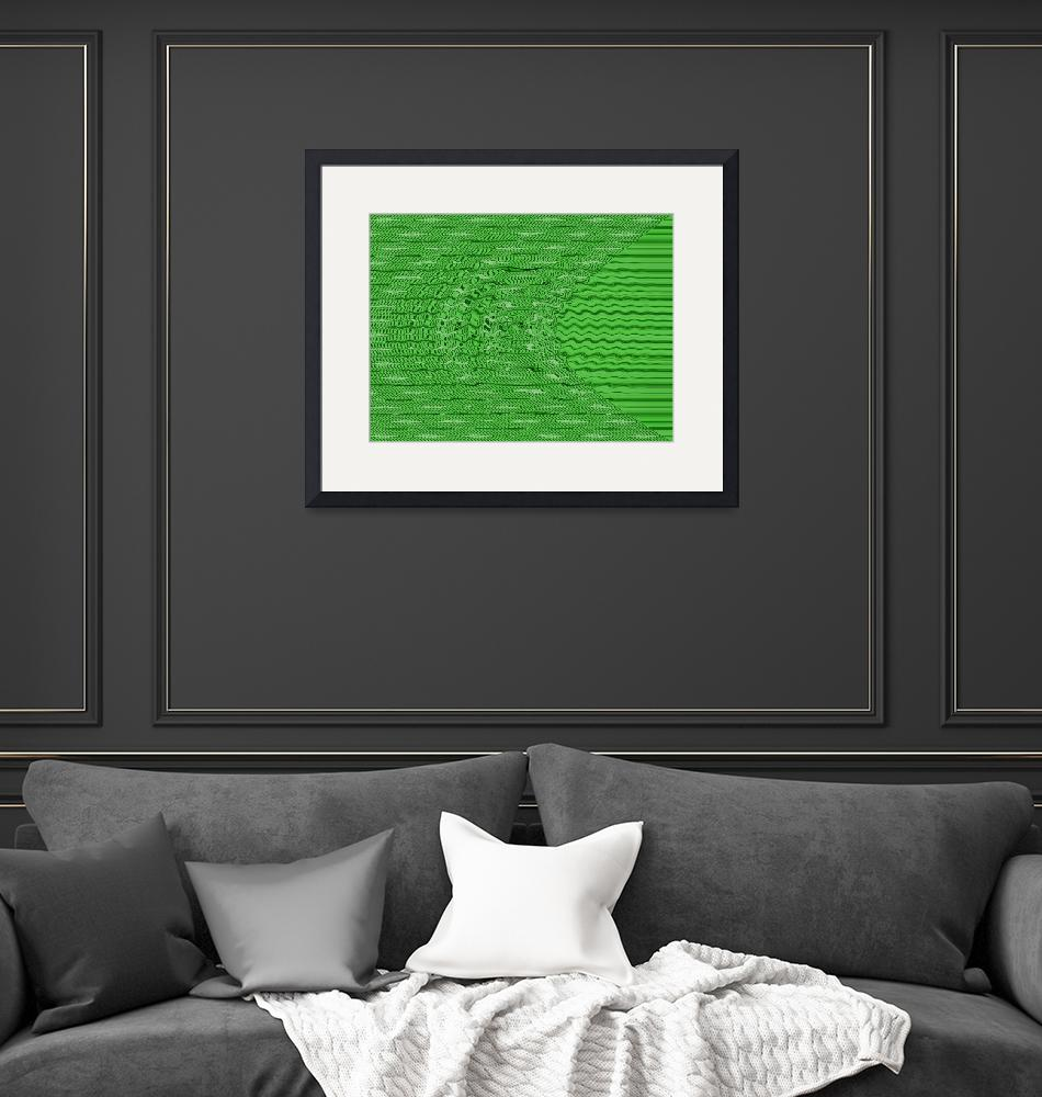 """""""green circles and lines""""  by DonnaGrayson"""