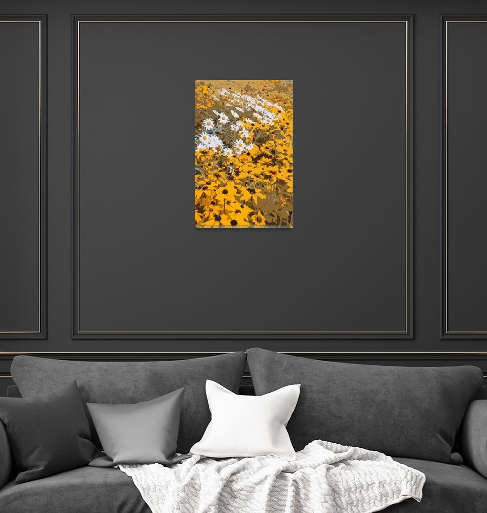 """""""Black Eyed Susans and Daisies""""  (2012) by walbyent"""