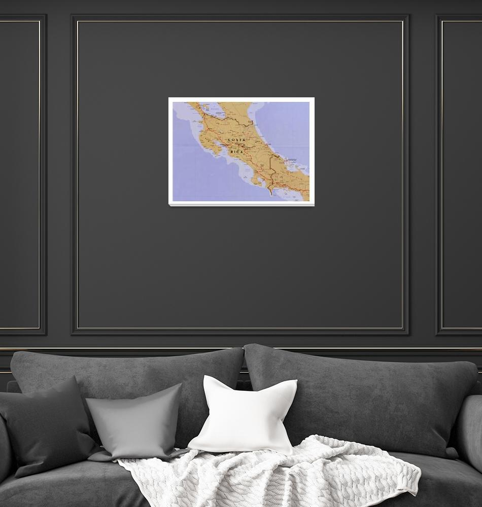 """""""Costa Rica Map (1990) Latin America Country Atlas""""  by Alleycatshirts"""