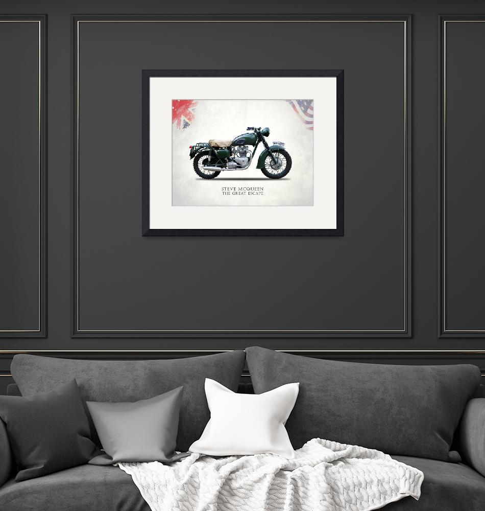 """The Great Escape Motorcycle"" by mark-rogan"