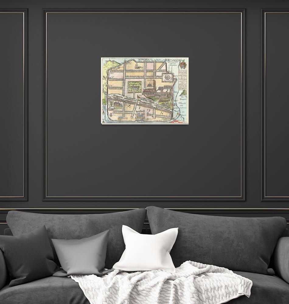 """Map of Jerusalem by Fuller""  by FineArtClassics"