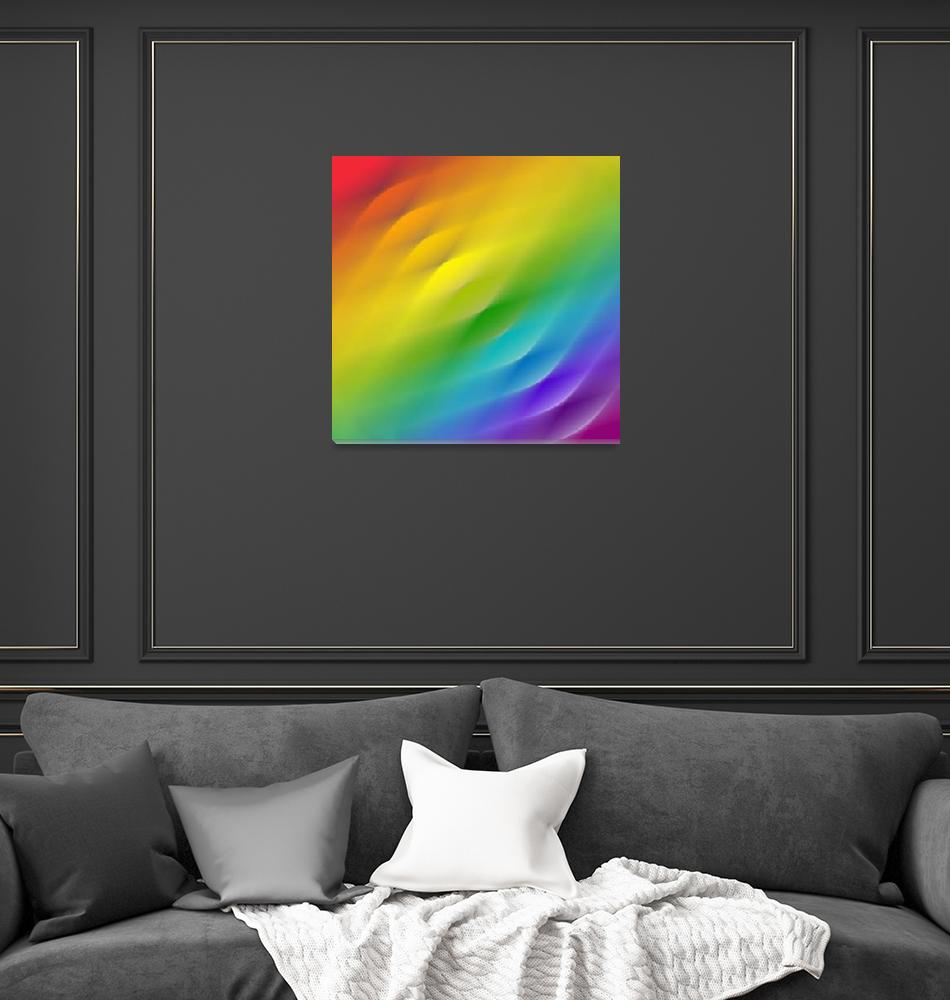 """color wheel square blur""  (2008) by AngelaHayden"