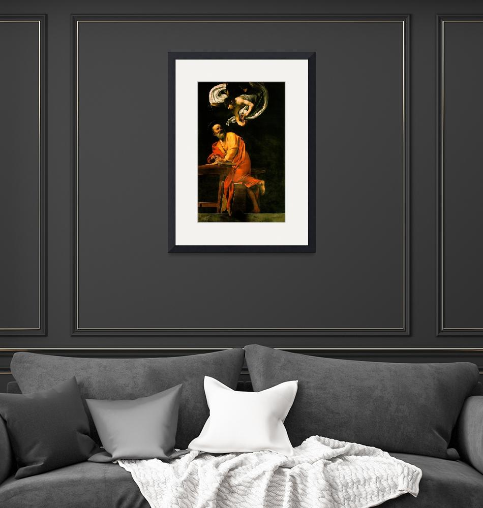 """Caravaggio The Inspiration Of Saint Matthew""  by oldies"