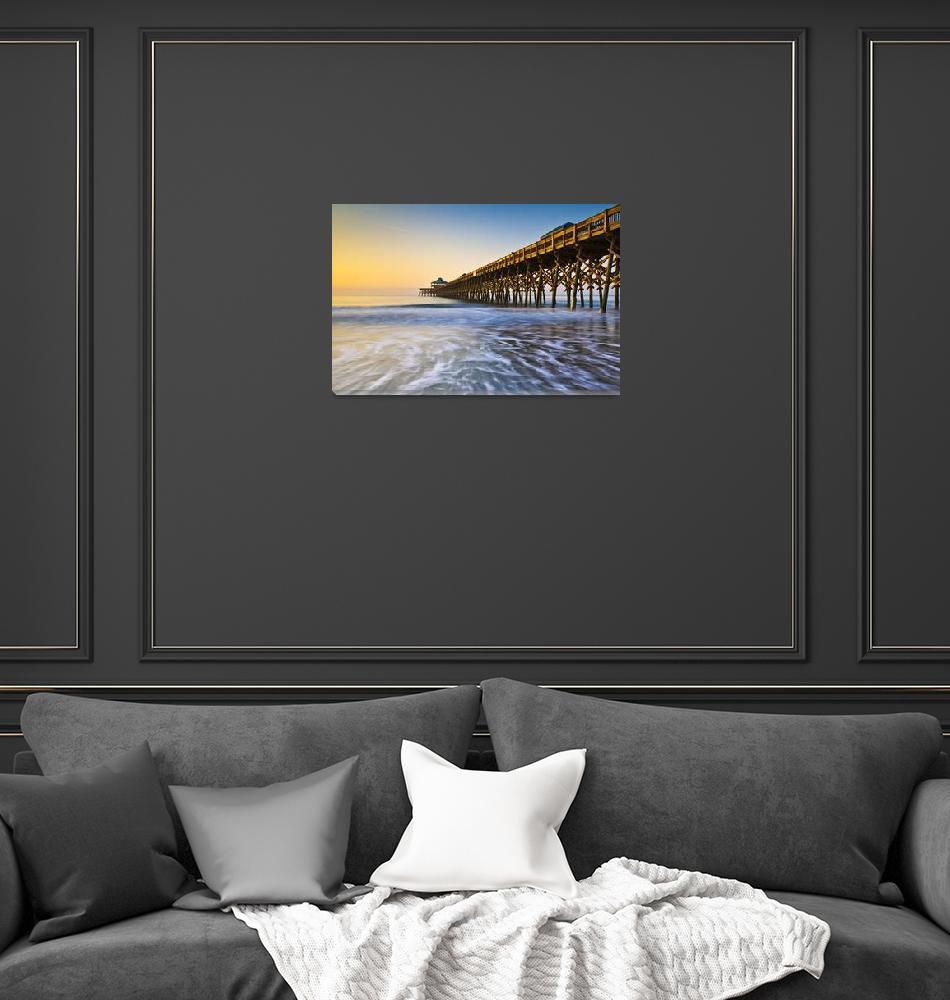 """Folly Beach Pier Charleston SC Coast Atlantic Ocea""  (2012) by DAPhoto"