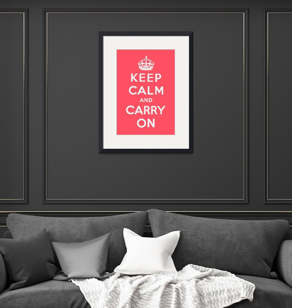 """""""Pink Keep Calm And Carry On""""  by oldies"""