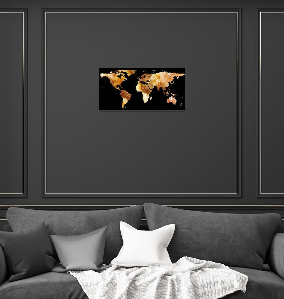 """""""World Map Silhouette - Sausage Pizza""""  by Alleycatshirts"""