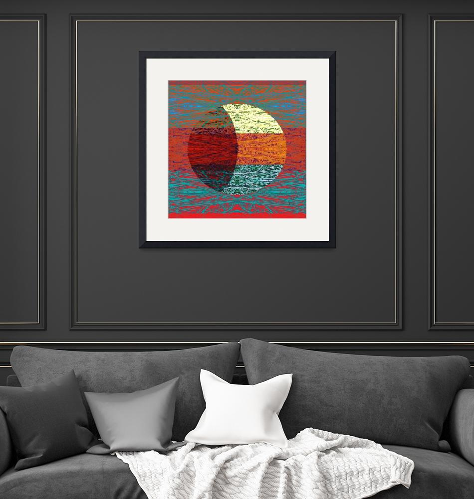 """Lunar Phase with Red""  (2011) by Leyland"