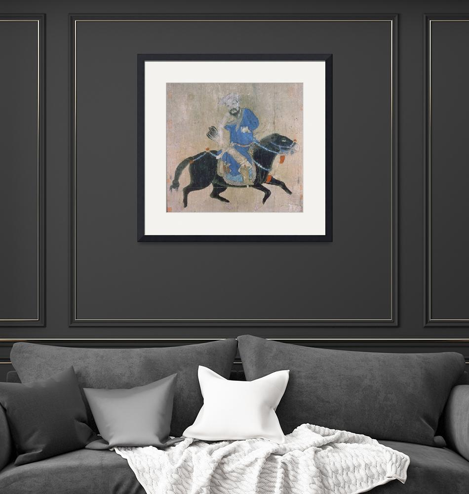 """""""Mongol archer on horseback, from seals of the Empe""""  by fineartmasters"""