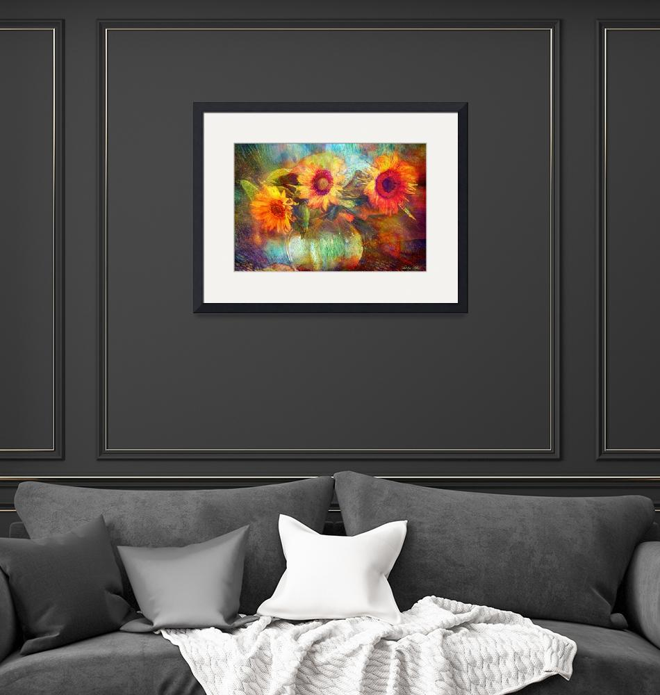 """""""Sunflowers""""  by Art_by_Lilia"""