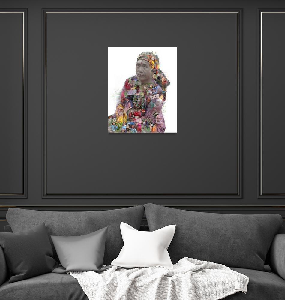"""Portrait of Nepal""  (2019) by evelyncurryart"