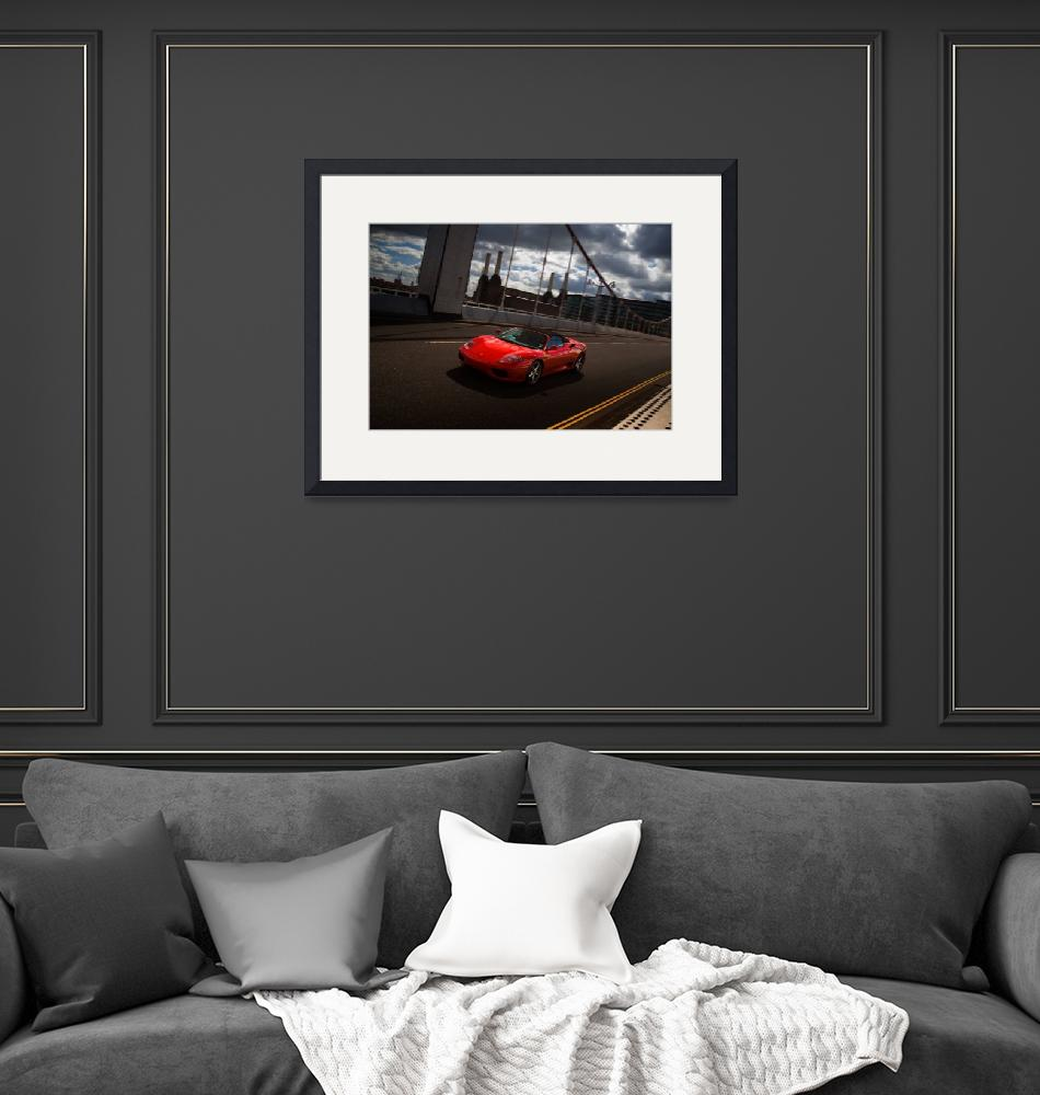 """Ferrari on Chelsea bridge""  by AlexSaberi"