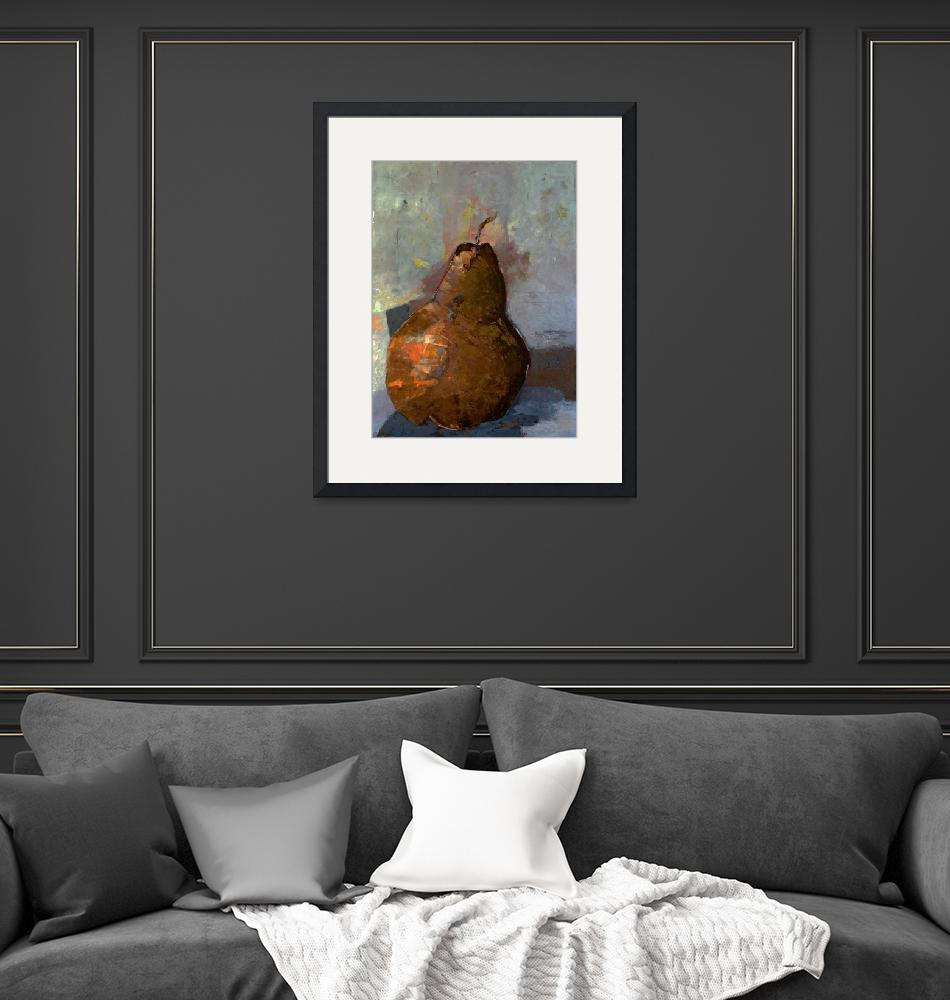 """""""Pear Fruit Food Minimalist Kitchen Painting""""  (2018) by Maggy"""