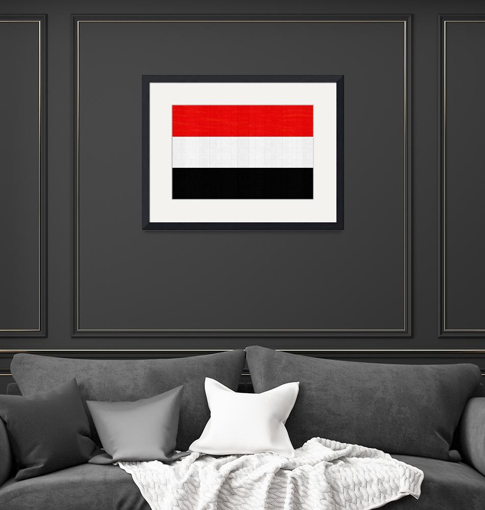 """""""Flag of Yemen ,  County Flag Painting ca 2020 by A""""  by motionage"""