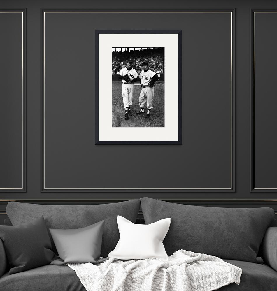 """Mickey Mantle with Ted Williams""  by RetroImagesArchive"
