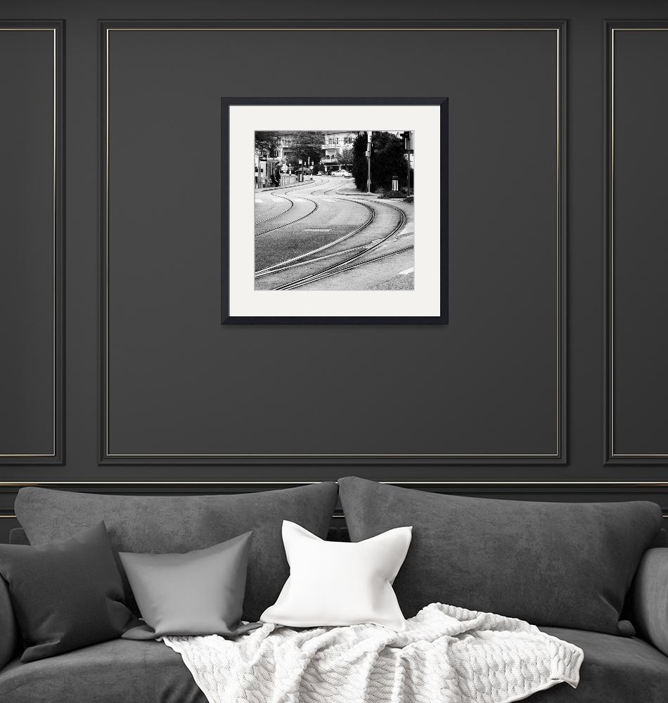 """Rails in the city""  (2011) by MatteoCozzi"