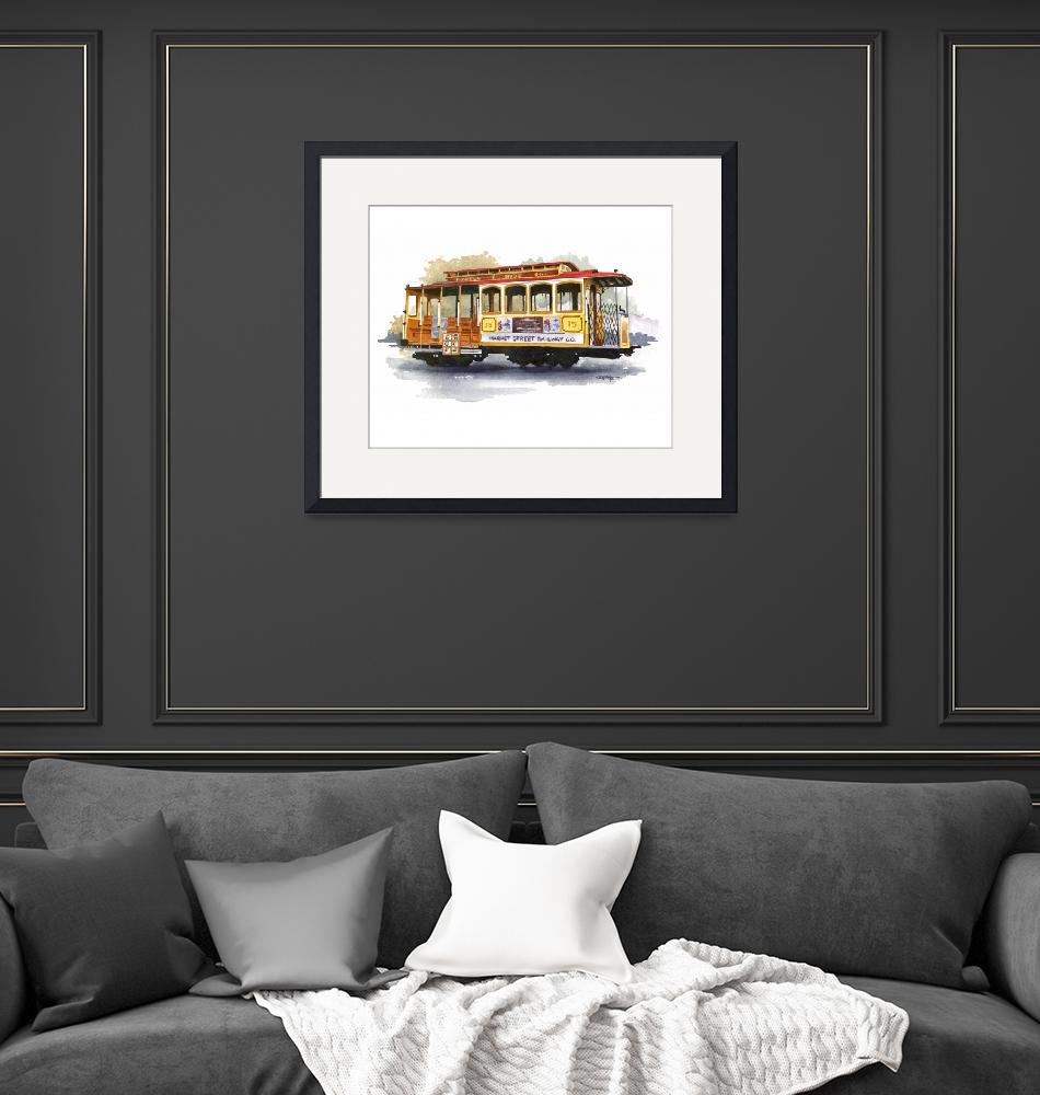 """""""Cable Car""""  (2015) by k9artgallery"""