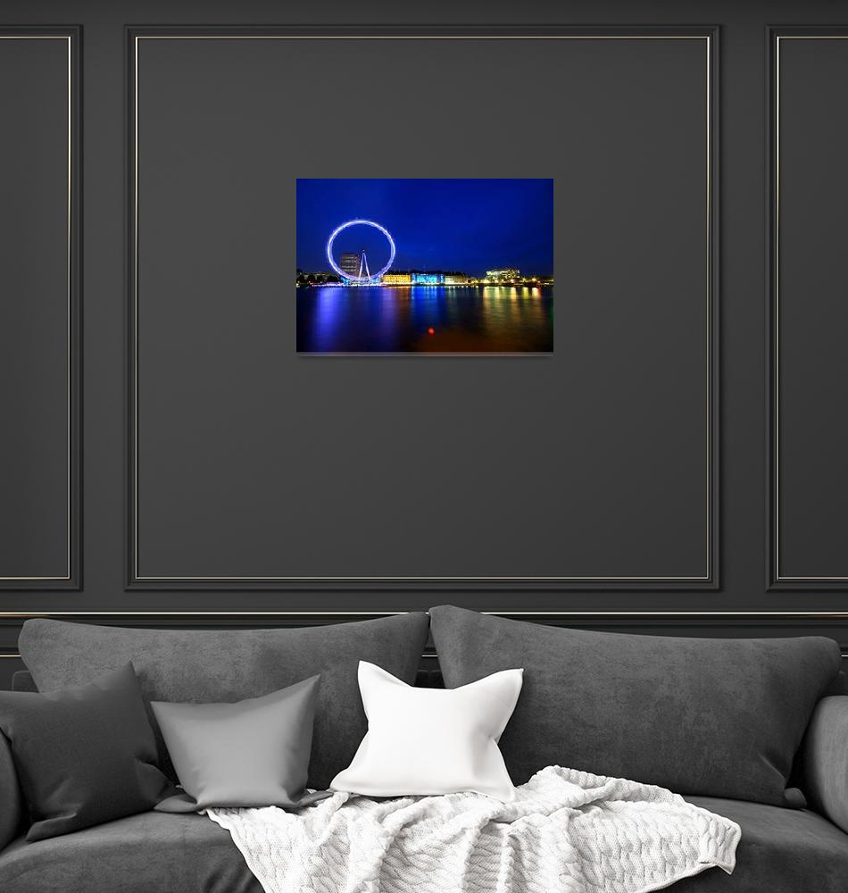 """London Eye at Night""  (2009) by sergioamiti"