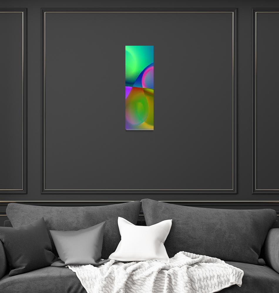 """""""the sound of colors triptych middle""""  (2017) by issabild"""