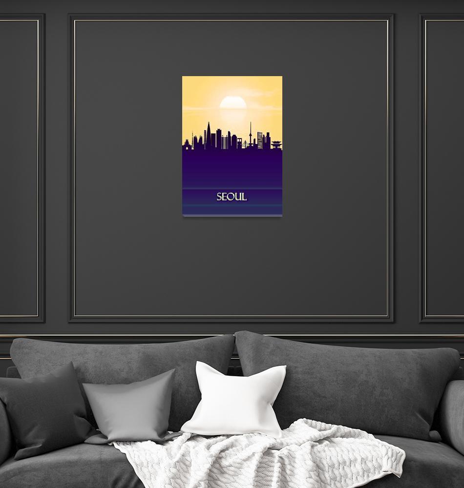 """Seoul City Skyline""  by Towseef"