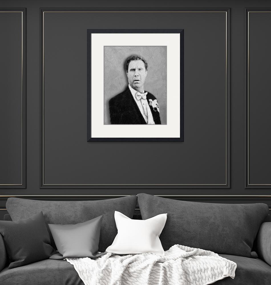 """Will Ferrell Old School""  (2014) by RubinoFineArt"