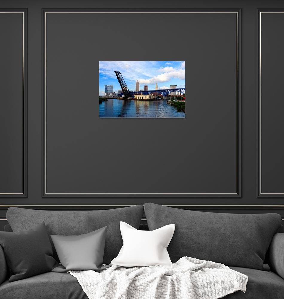 """""""Cleveland Skyline from Across the River""""  by cyorkphoto"""
