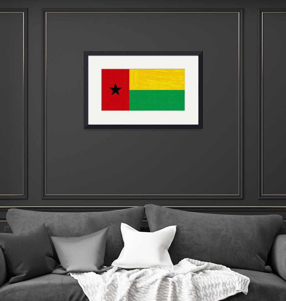 """""""Flag of Guinea-Bissau ,  County Flag Painting ca 2""""  by motionage"""