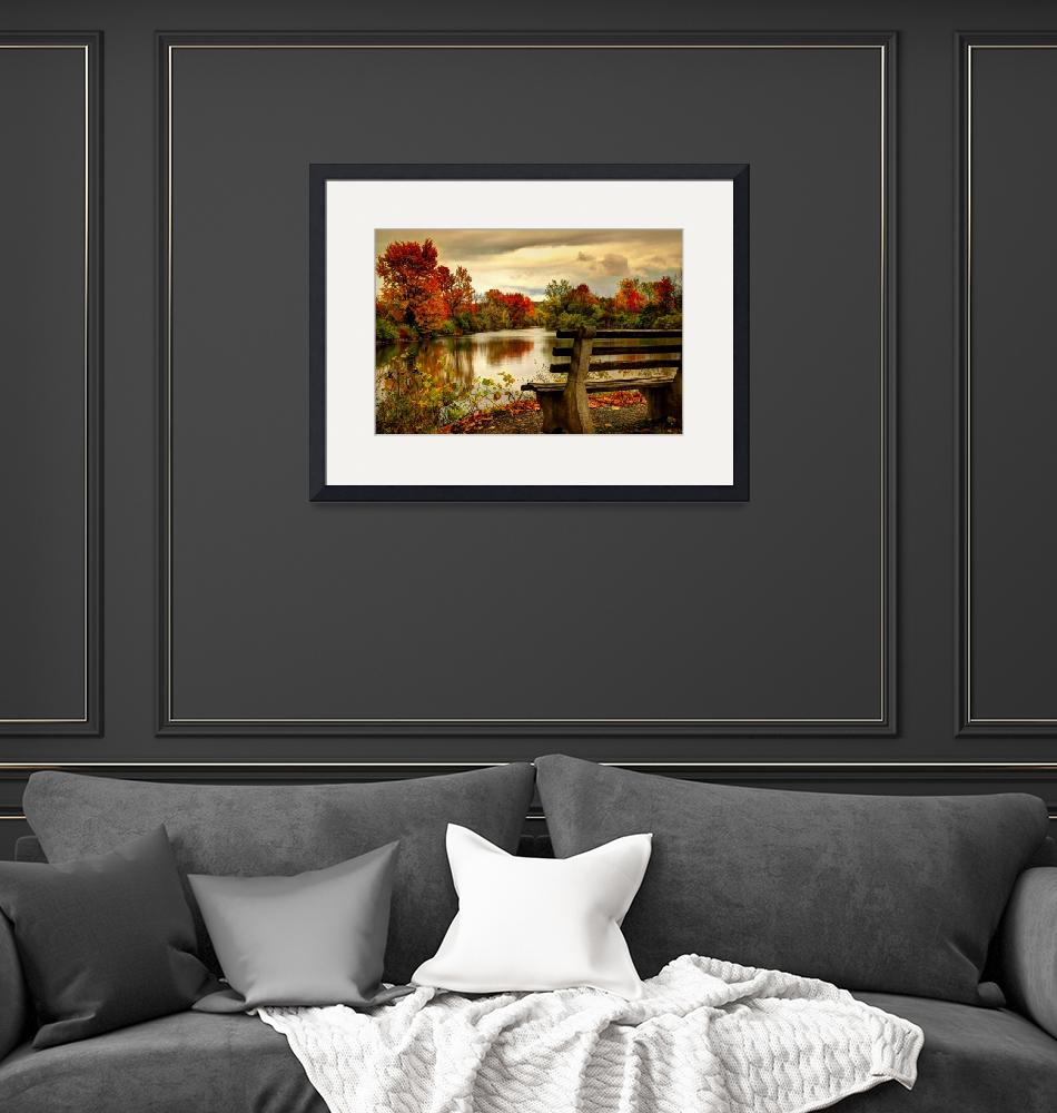 """""""Autumn on the Canal""""  (2011) by janetlee"""