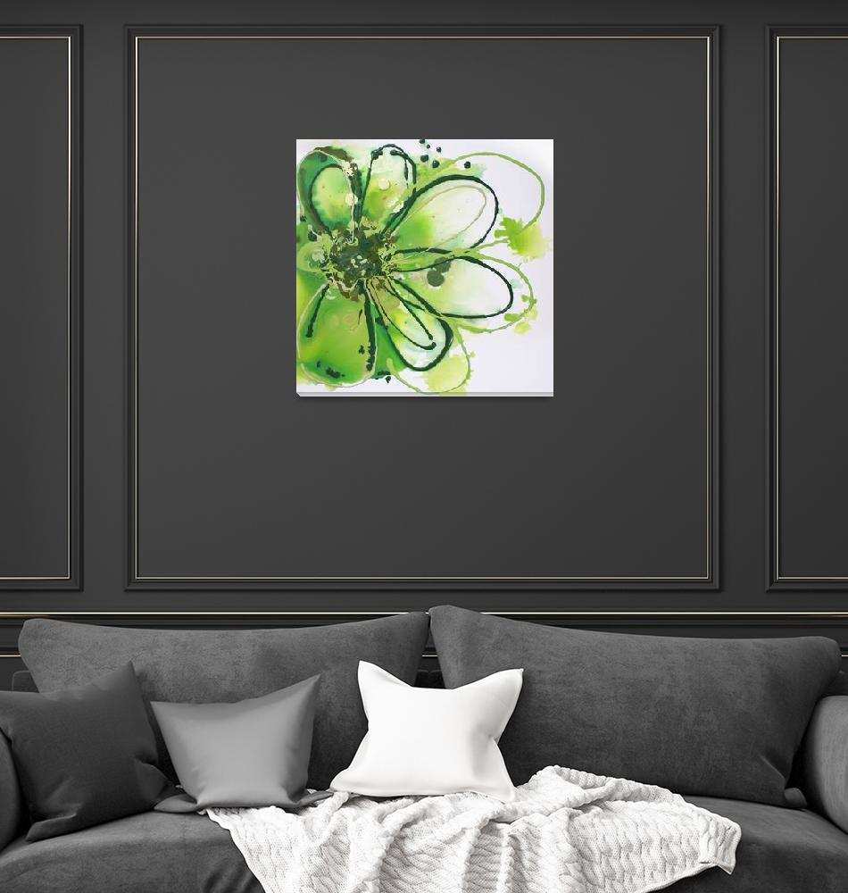 """""""Green Abstract Splash""""  by Aneri"""