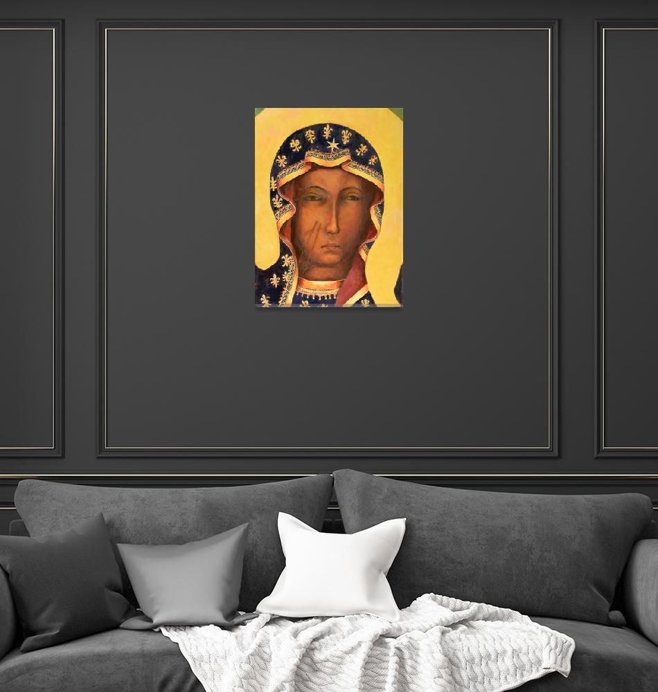 """Polish Black Madonna Our Lady of Czestochowa Icon""  (2016) by Maggy"