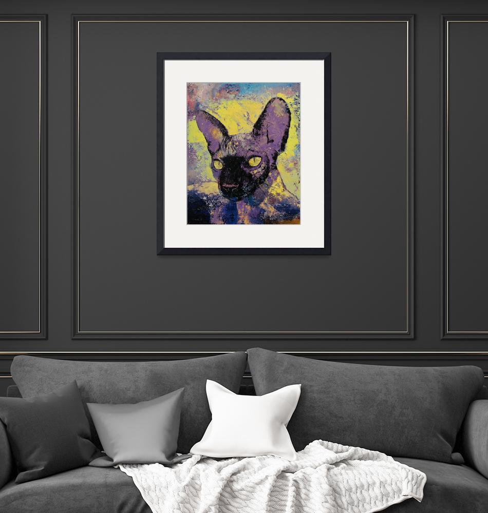 """""""Sphynx Cat Painting""""  by creese"""