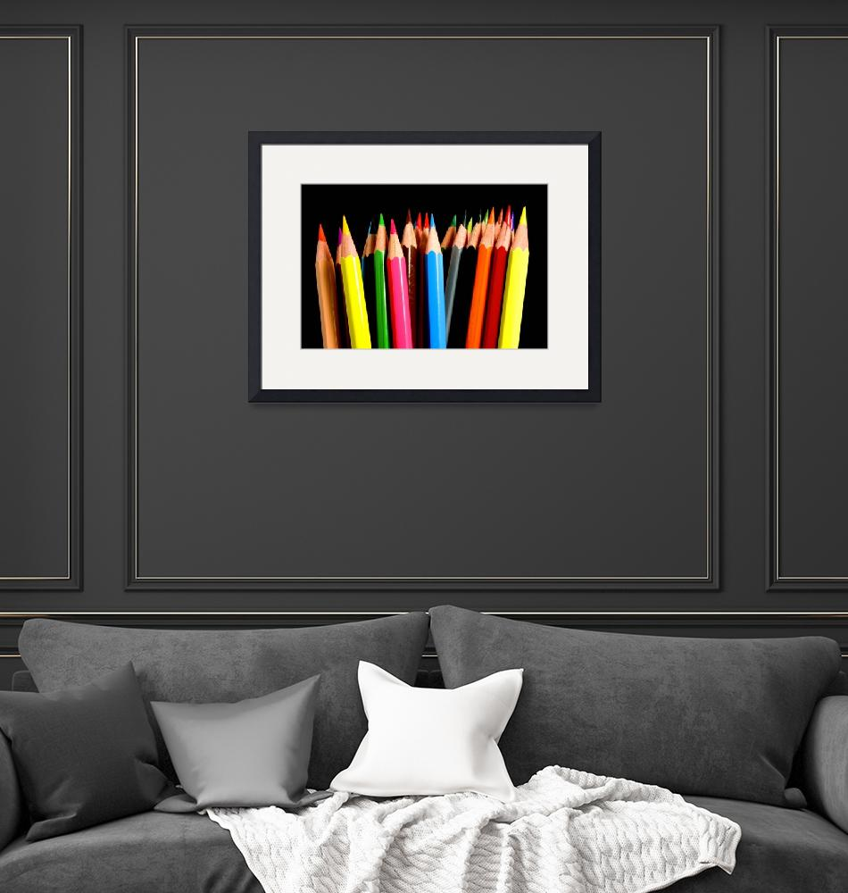 """Colored Pencils""  (2008) by ModernArtPrints"