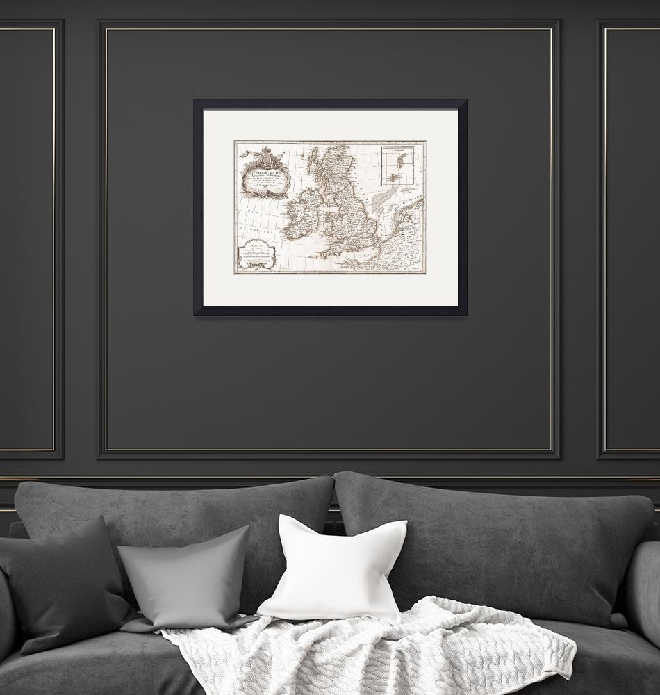 """""""Eighteenth Century Britain Map""""  by TammyWinandPhotography"""