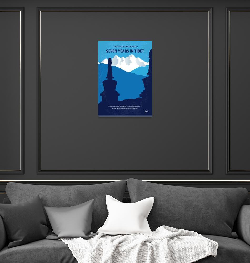 """""""No559 My Seven Years in Tibet minimal movie poster""""  by Chungkong"""