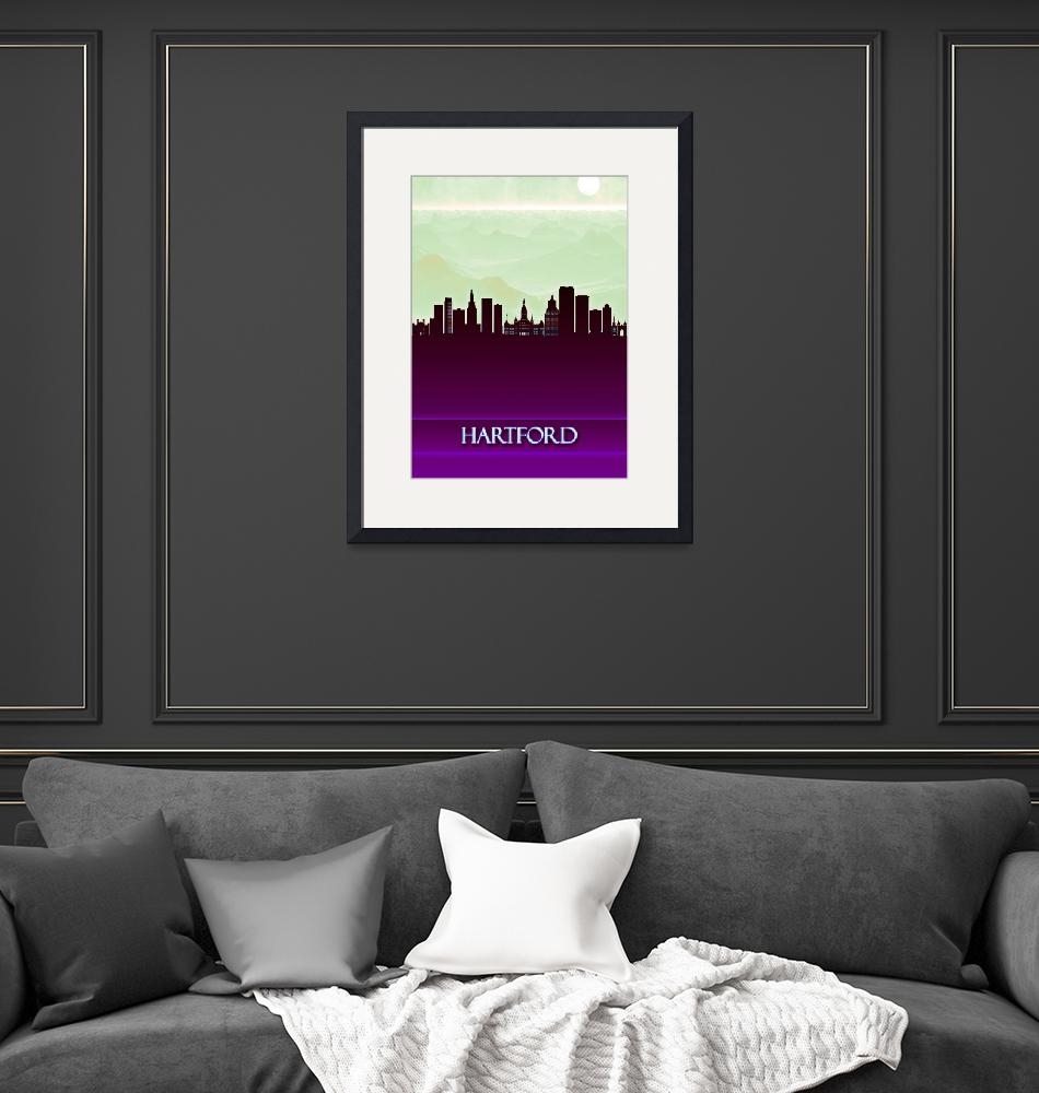"""""""Hartford City Skyline""""  by Towseef"""