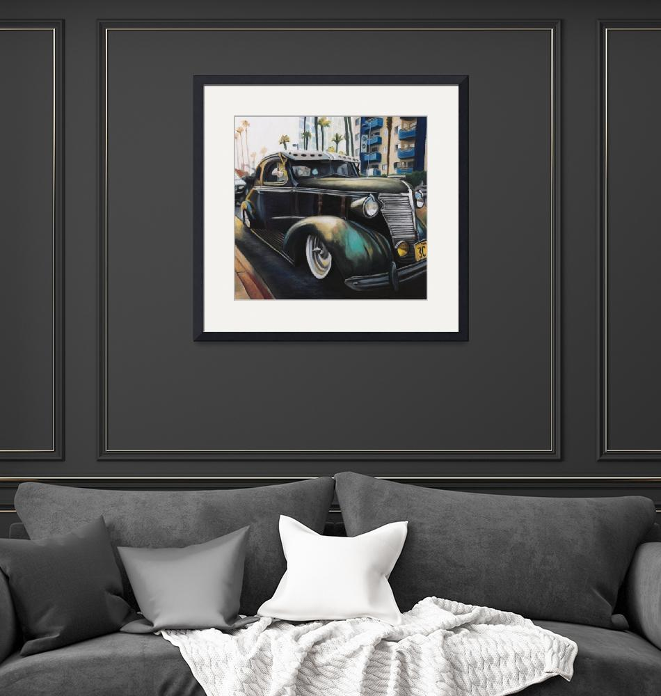 """""""1938 PONTIAC WITH PATINA ON MAGNOLIA""""  (2017) by MaryDeChambres"""