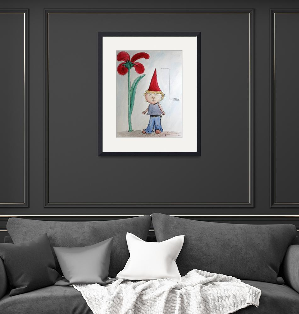 """""""One Little Gnome, One big flower""""  (2008) by elasah"""