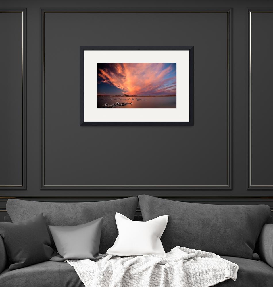 """""""Fire Over Lake Powell""""  (2009) by pbk"""