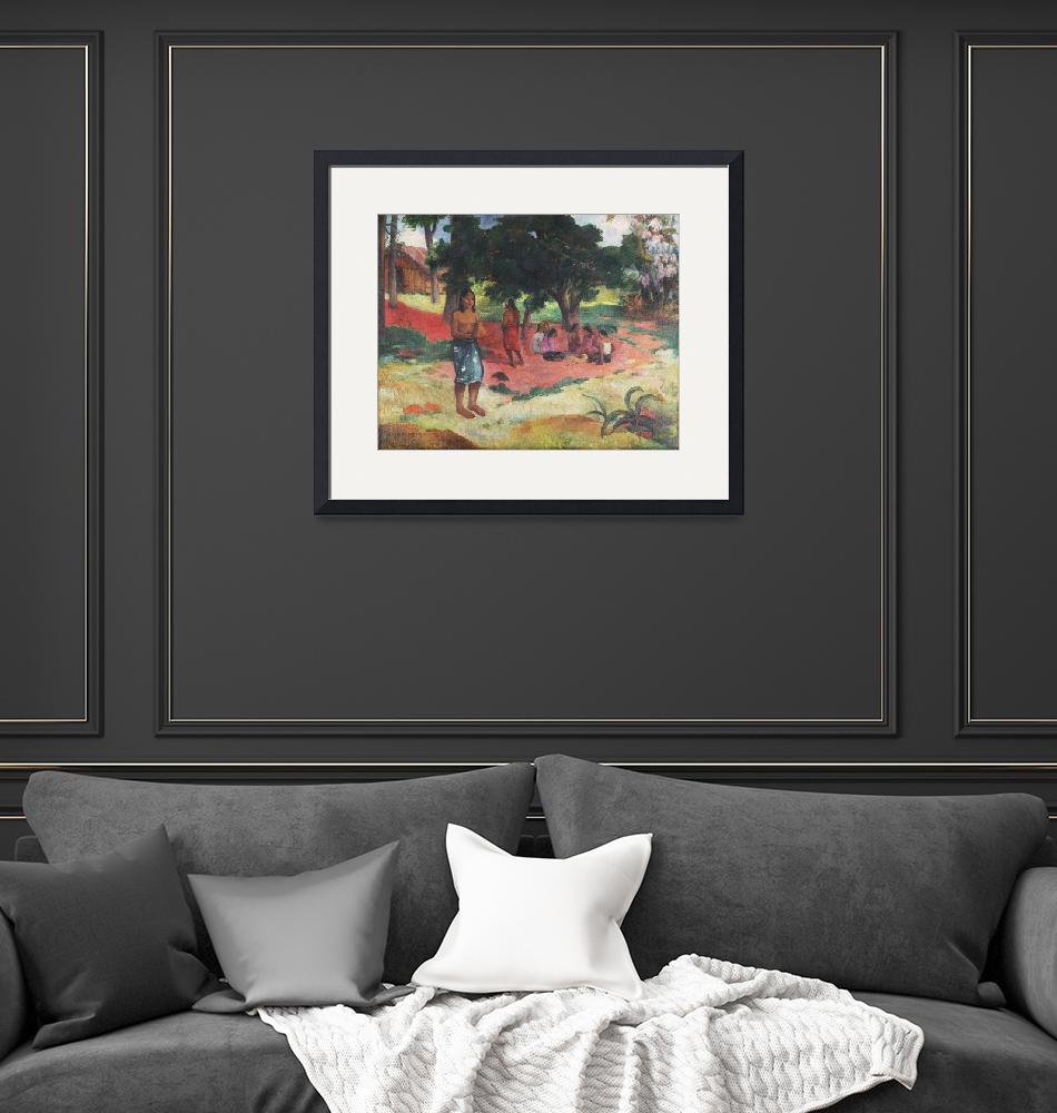 """""""Whispered Words by Paul Gauguin""""  by FineArtClassics"""