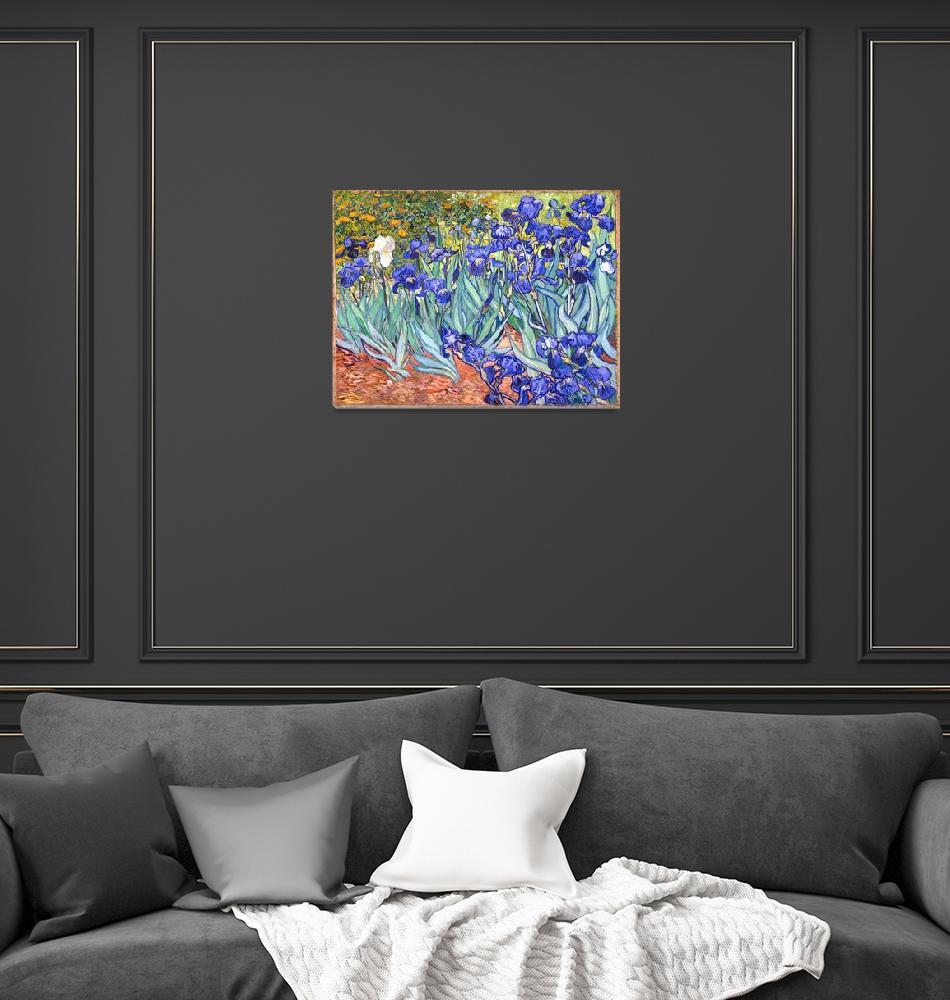 """Vincent Van Gogh Irises Flowers Postimpressionism""  by masterpiecesofart"
