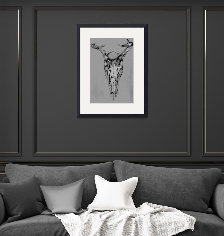 """Deer Skull still life 1""  (2006) by Abuccafusco"