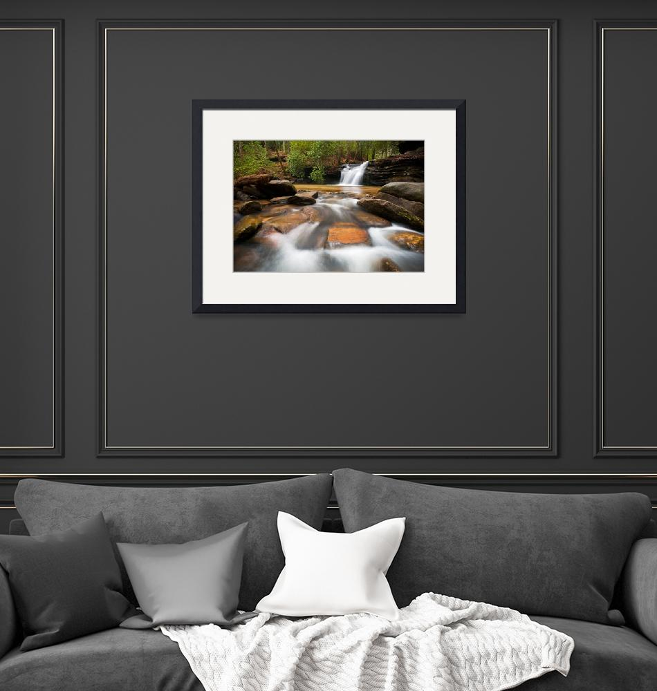 """Upstate SC Waterfall Landscape Blue Ridge Mountain""  (2012) by DAPhoto"