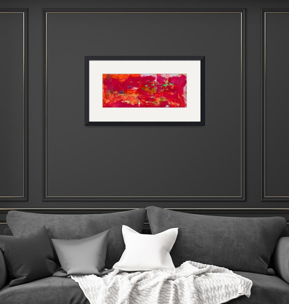 """""""Abstract Red Passion""""  (2017) by RDRiccoboni"""