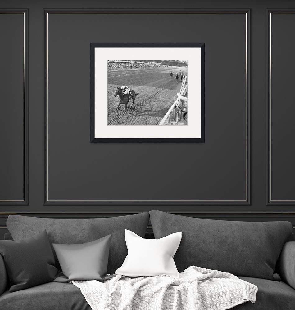"""""""Horse Crossing Finish Line""""  by RetroImagesArchive"""