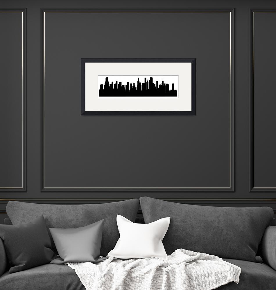 """Chicago Cityscape Skyline""  (2015) by KWGart"