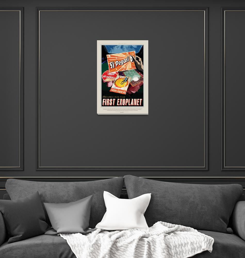 """""""NASA First Exoplanet Space Travel Poster""""  by FineArtClassics"""
