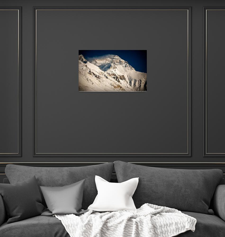 """""""Everest from BaseCamp Tibet after snow""""  (2006) by ExposedPlanet"""
