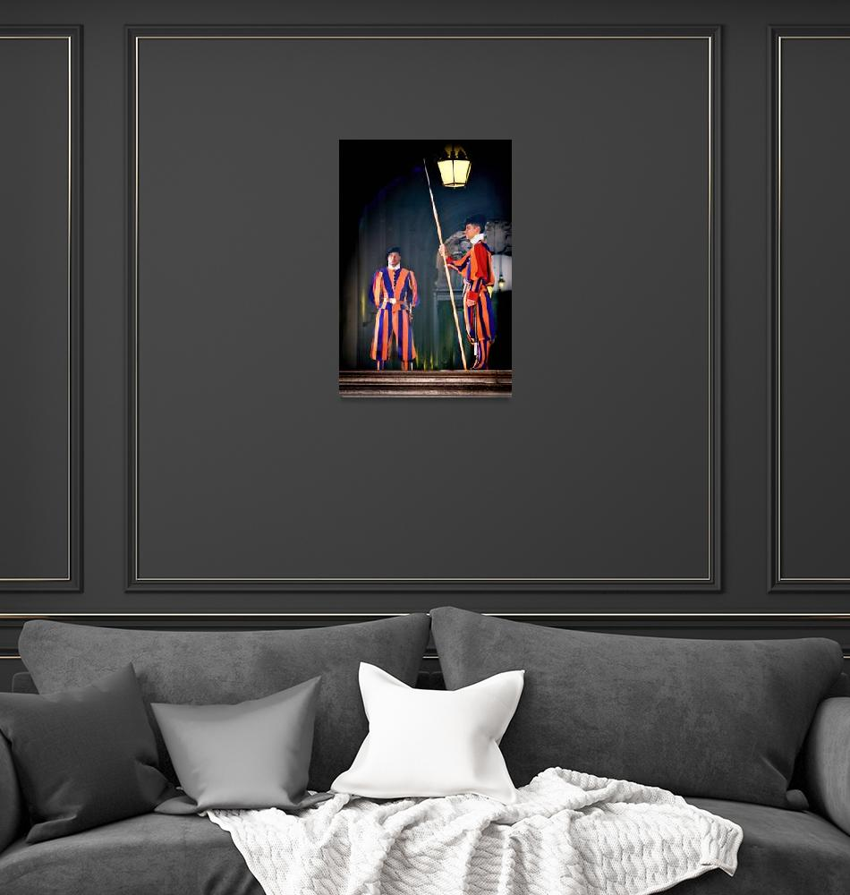 """Swiss Guards at Vatican City""  (2008) by mjphoto-graphics"