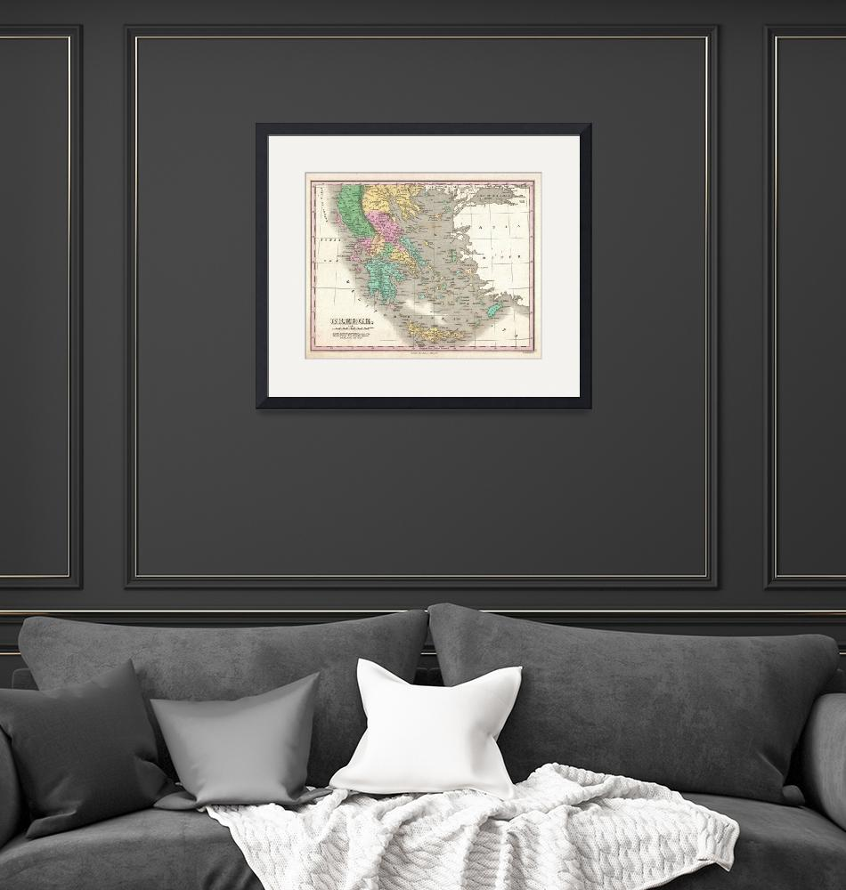 """""""Vintage Map of Greece (1827)""""  by Alleycatshirts"""