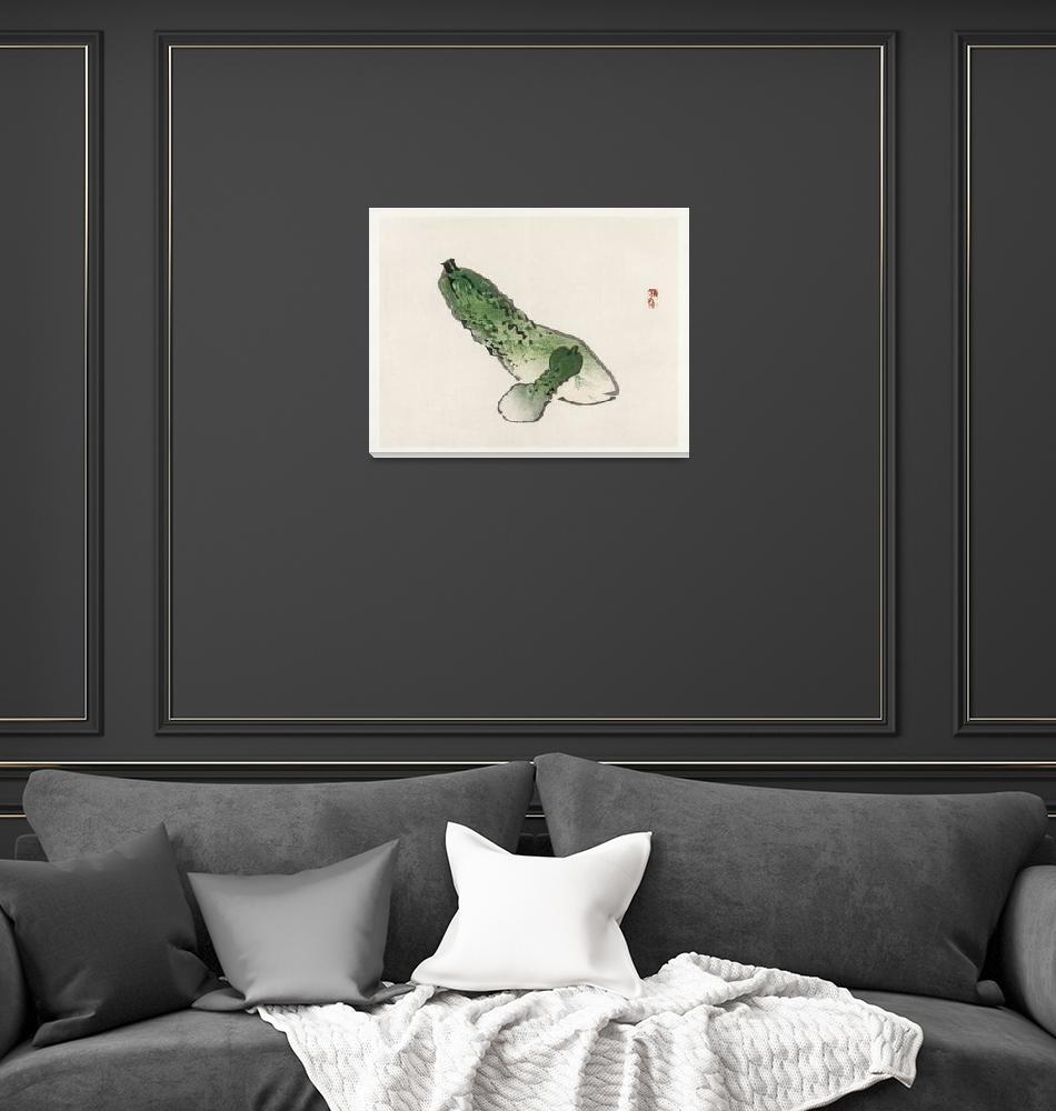 """""""Cucumbers by Kono Bairei""""  by FineArtClassics"""