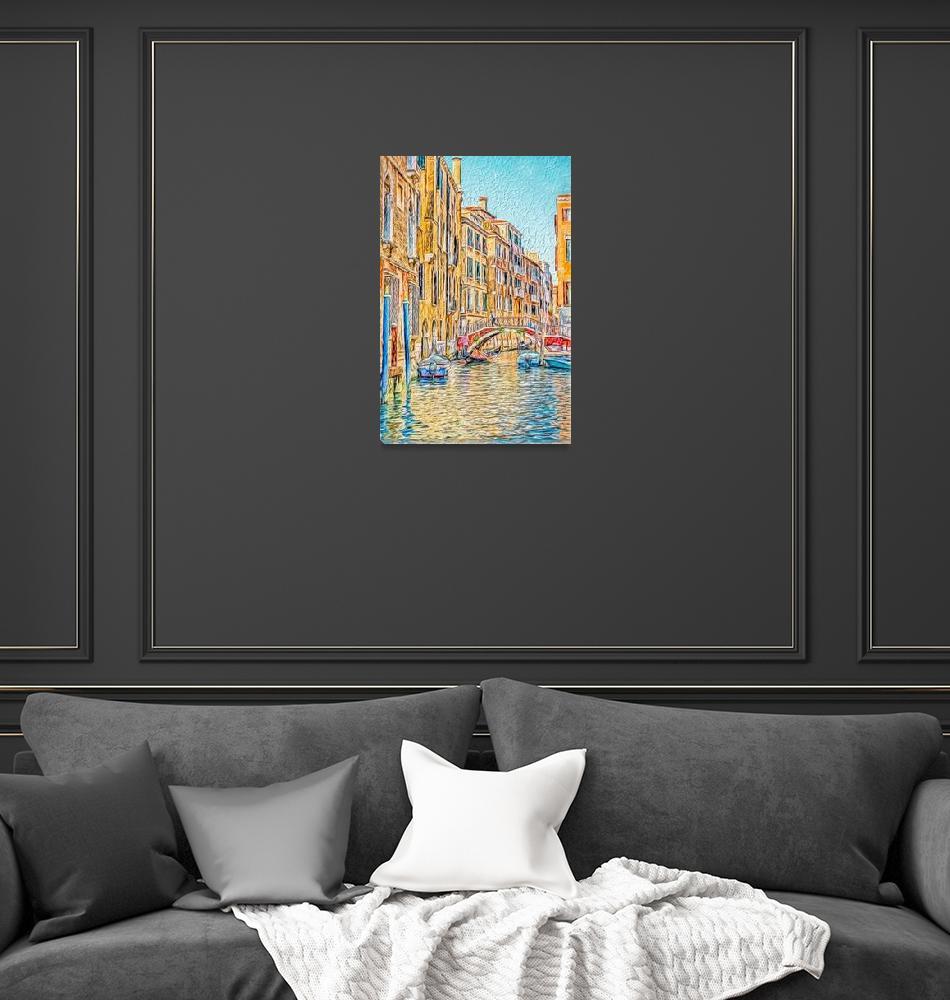 """Venice canal""  (2016) by SueLeonard"